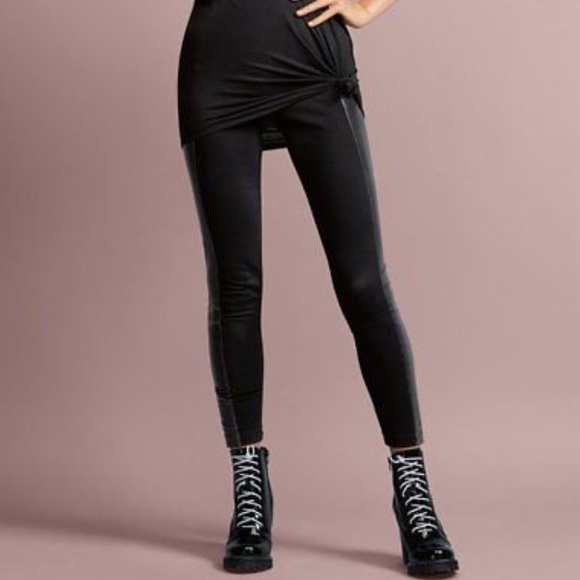 5951b36704544 CAbi Pants | Bexley Black Faux Leather Trim Leggings M | Poshmark